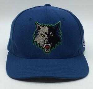 Vintage Minnesota Timberwolves Strapback Hat Cap Big Logo NBA Starter Big Logo
