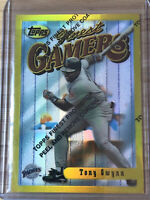 TONY GWYNN 52 CARD LOT W/ 1996 Finest Gold Rare Refractor Gamers #6 HOF
