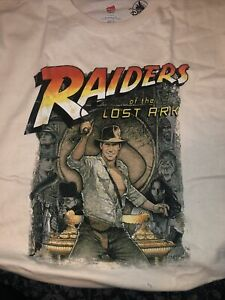 Disneyland Mens Indiana Jones Raiders Of The Lost Ark Short Sleeve T Shirt SZ L