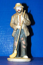 "Emmett Kelly Clown Figurine Flambro 8"" Taiwan Porcelain Spotlight Movable Broom"