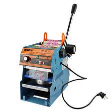 220V 300W Electric Tea Cup Sealer Sealing Machine Bubble 450 Cups/hr