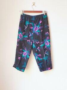 Women's Vintage Suzanne Grae Floral Print Peddle Pushers Cotton Pants. Size 12