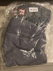 $49 Hunter Women's Gray Tall Cardigan Knit Cuff Welly 1-Pair Boot Socks Size M