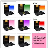 ZOMEI Square Gradual color Filter Red/blue for cokin Z-PRO For Nikon Canon Sony