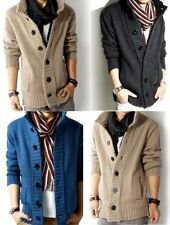 Unbranded Men's No Pattern Button-Front Jumpers & Cardigans