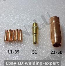 11-35 Contact Tip + 21-50 Nozzle + 51 Gas Diffuser Replacement Tweco MIG Gun