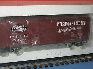 "Atlas ""O"". 3 rail. Pittsburgh & Lake Erie/NYC. 40ft sliding door box car C-10 bd"