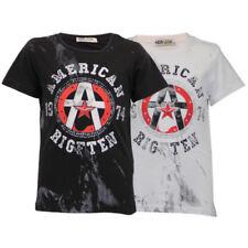 Camiseta de niña de 2 a 16 años de algodón y poliéster