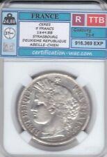 5 FRANCS CERES 1849.BB STRASBOURG