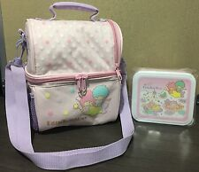 2012 NEW Sanrio LITTLE TWIN STARS multi compartment lunch bag with container!