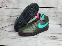 "*New* New Nike Court Borough Mid 2 Boot (GS) 6.5Y BQ5440 300 ""Miami Vice"""