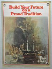 "1975 U.S.N Us Navy ""Spirit of '75 Navy"" Recruiting Poster 25"" x 34"""