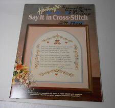 Country Handcrafts Say It in Cross Stitch Collection 17 Sampler Patterns Booklet
