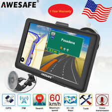 "7""Awesafe Car GPS Navigation POI Sat Nav Navigator Free 8GB US Maps Update"