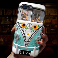 Couple German Shepherd Hippie Peace Dog Lover Phone Case Iphone
