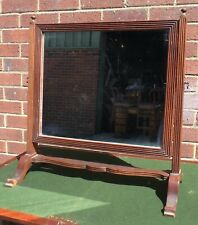 George III antique solid mahogany swing frame country house dressing mirror