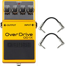 BOSS OD-1X Overdrive Guitar Effects Pedal Stompbox Processing + Patch Cables