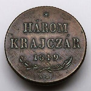Austria-Hungary, Harom Krajczar 1849 NB, Revolution 1848-1849