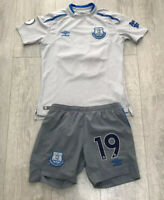 Boys kids Everton away football kit size LB/152 Umbro 19 Niasse 2017-2018
