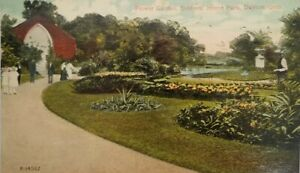 Ohio OH Dayton Soldiers Home Flower Gardens Conservatory Postcard Old Vintage PC