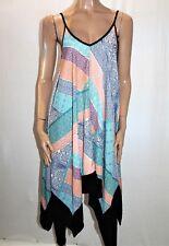 VALLEYGIRL Brand Multi Printed Asymmetric Sun Dress Size 10 BNWT #SF25