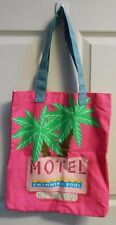 Beach Pool Bag Adorable Hot Pink Palm Tree Inside Pouch Approx 16x14 New Deal!