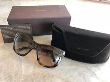 f6eb97291ead Tom Ford Rectangular Sunglasses TF361F Celina 50F Striped Brown