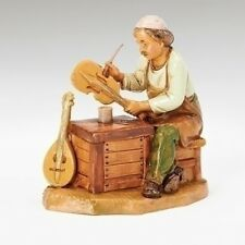 5 Inch Scale Fontanini Zimri Seated Instrument Maker Figurine 54094