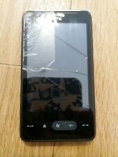 HTC HD mini - Black (Unlocked) Smartphone WORKING but with cracked screen