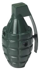 GREEN Squirting Water Toy Fake Grenade Costume Army Prop Clown Gag Joke Funny