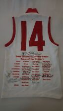 SYDNEY SWANS TEAM OF THE CENTURY SIGNED JUMPER X 13 SKILTON HERRIOT HEALY ROUND
