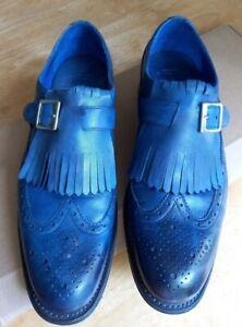 Grenson uk 8.5 Dipped blue.