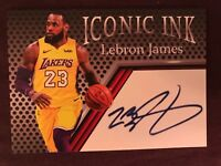 Lebron James Iconic Ink Aceo Facsimile Autograph Custom promo Card #23 Lakers