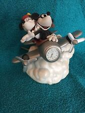 Mickey & Minnie Mouse Disney Airplane Music Box Clock