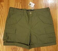 Polo Ralph Lauren Women's Poplin Cargo Buckled Shorts Size 10 Green THESPOT917