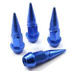 4 Blue Aluminum Metal Spike Wheeltire Valve Stem Car-truck Air Caps Covers