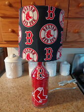Sports Team Table/Desk Lamp ( Hand-Painted Boston Red Sox Logo/ Team Shade)