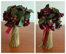 Christmas Bouquets or Centerpieces Lot Set 2 Red Green