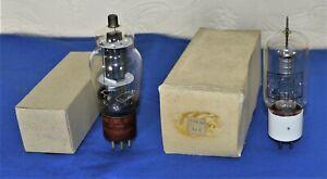 Two vintage valves / tubes; 1/ Type 35T Eimac USA. 2/ JAN-CWL.807 VT-100A Westin