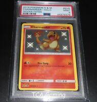 PSA 9 MINT Charmander SV6/SV94 SM Hidden Fates SHINY HOLO Pokemon Card