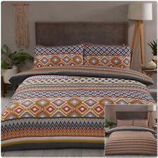 "Rapport ""Zanzibar"" Geometric Reversible Print Duvet Cover Bedding Set Multi"