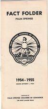 1954  Brochure Fact Folder Palm Springs