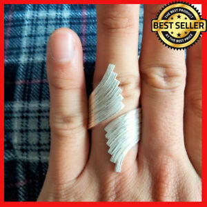 FINE SILVER RINGS 925 STERLING リング BAGUE WRAP FINGER DELICATE STYLES