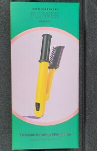 """New! Flower Hair Tools By Drew Barrymore Titanium 1.25"""" Rotating Styling Iron"""
