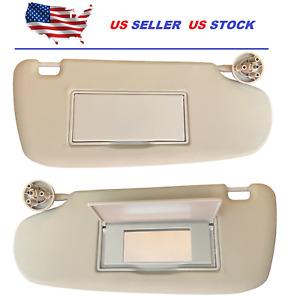 Sun Visor For Dodge Ram 1500 2002-2009 2500 3500 2003-2009 Left + Right Set Pair