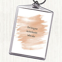 Watercolour Price Before Value Quote Bag Tag Keychain Keyring