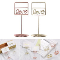 Supplies Rose Gold Table Numbers Holder Clamps Stand Place Card Photos Clips