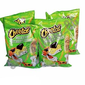 4 Cheetos Mexican Street Corn 3.25 oz Bag Tangy Spicy Cheesy Limited Edition NEW