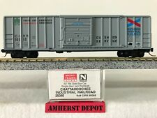 Micro Trains Box Car Chattahoochee Industrial Rr N Scale Cirr Gray Boxcar 25040