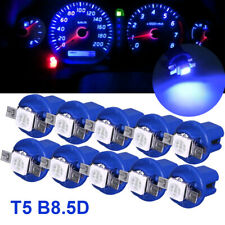 10X T5 B8.5D 5050 1SMD LED Dashboard Dash Gauge Instrument Light Bulbs 12V Blue
